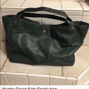 Kate Spade Bag.. Dark green with gold turnlock